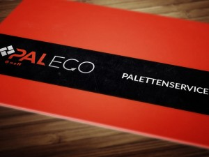 Paleco GmbH - Visitenkarte Version in Rot